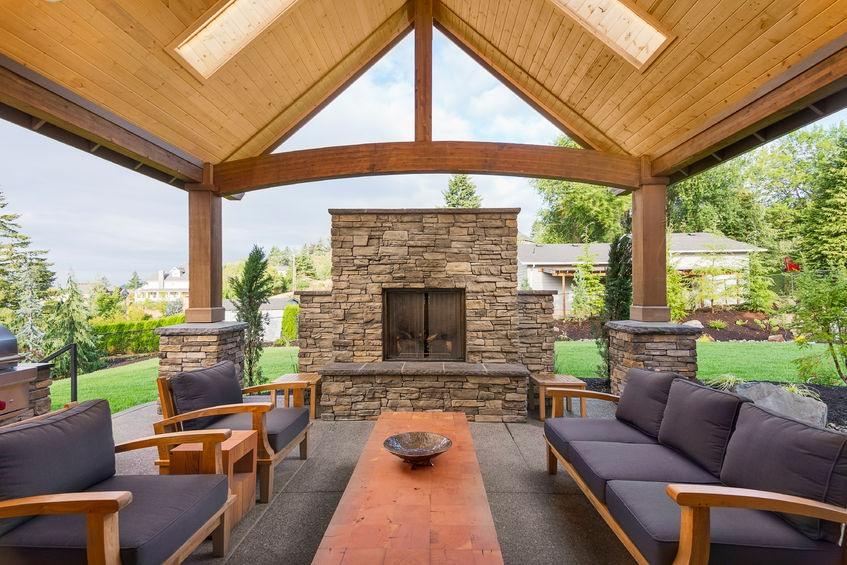 Sarasota Outdoor Fireplace Installation